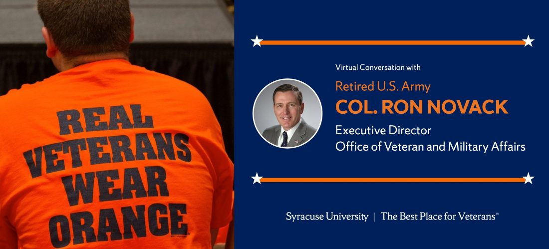 "Learn more about the Office of Veteran and Military Affairs (OVMA) and why Syracuse University is ""the best place for veterans"