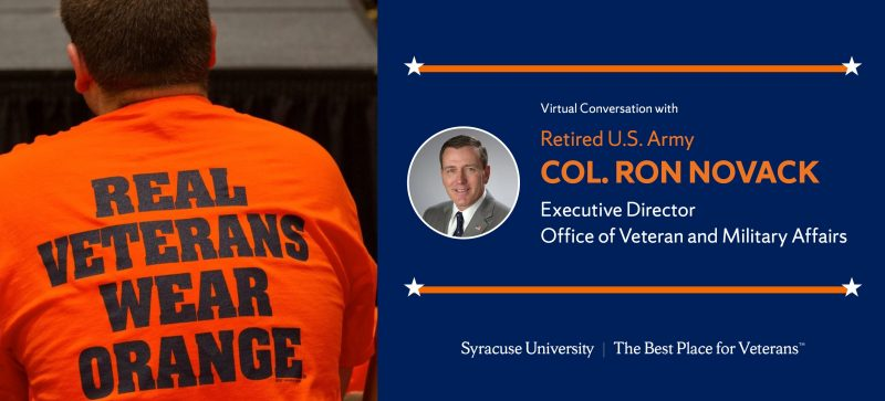 """Learn more about the Office of Veteran and Military Affairs (OVMA) and why Syracuse University is """"the best place for veterans"""