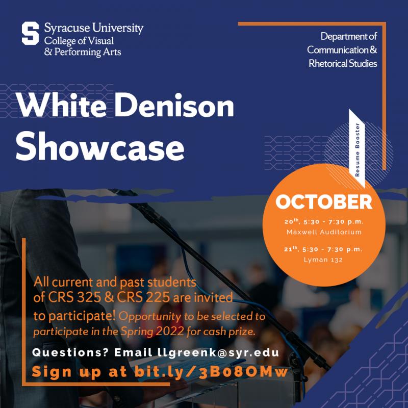 White Denison Showcase poster