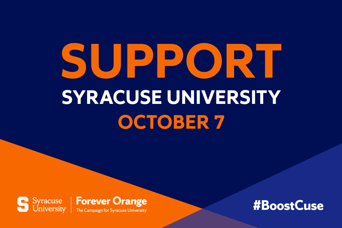 Support Syracuse University during Boost the Cuse