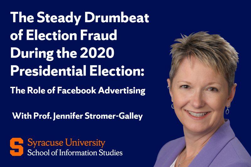 Jennifer Stromer-Galley Feb. 26 2021 Webinar