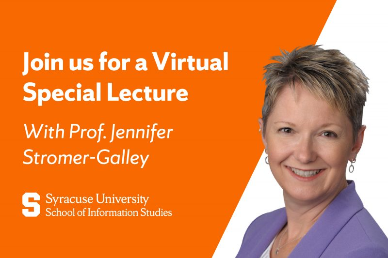 Jennifer stromer-Galley Special Lecture