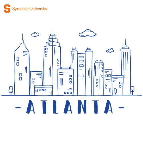 Line drawing of Atlanta skyline
