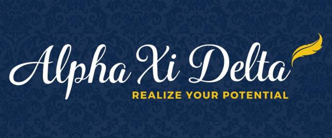 Alpha Xi Delta logo, Realize Your Potential