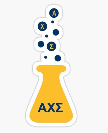 Alpha chi sigma beaker logo