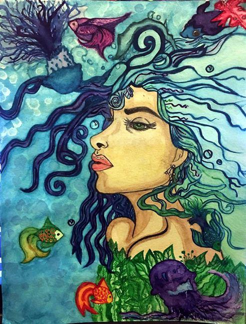 Teen Artist Painting by Aaliyah Morales