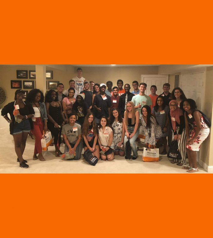 Group of newly-admitted Syracuse University students