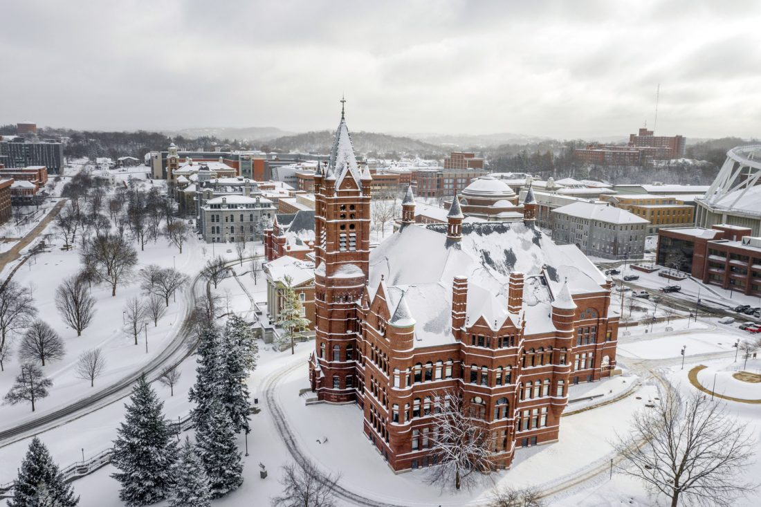 Aerial of Crouse College.
