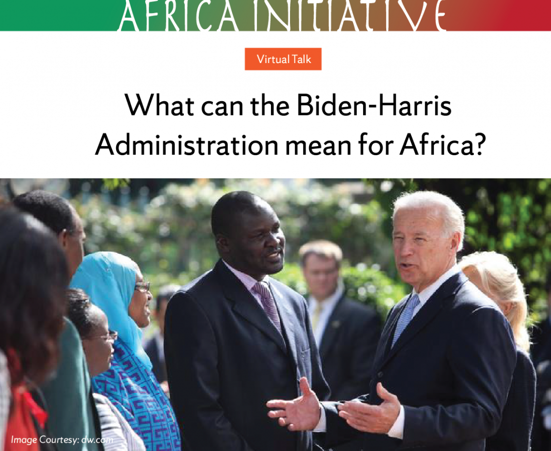 President Biden talking to African leaders and delegates.