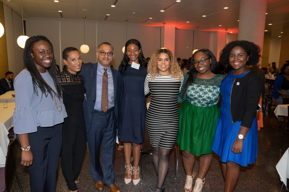 Alumni, students, and friends gather for the Alumni of Color Reception