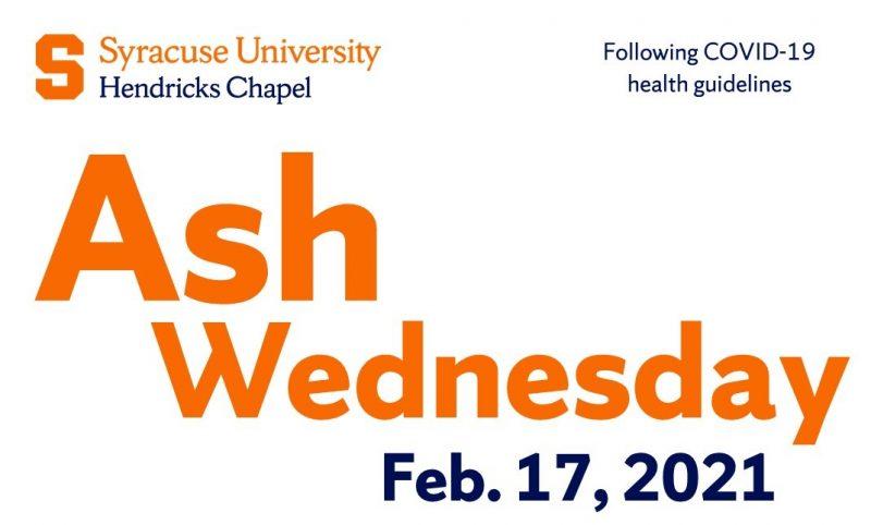 Ash Wednesday Feb. 17, 2021