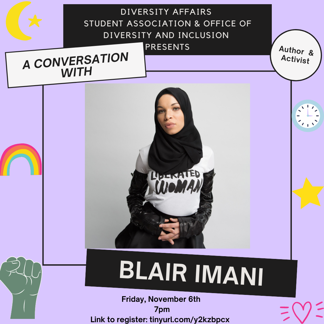 Activist Blair Imani will speak to campus