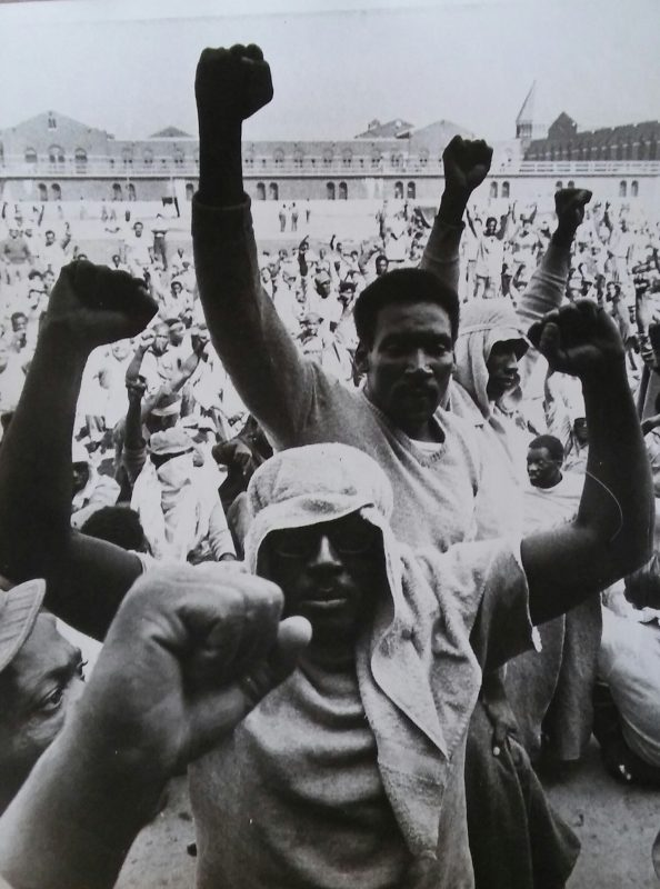 Bob Schultz, Clenched Fists at Attica State Prison, September 10, 1971