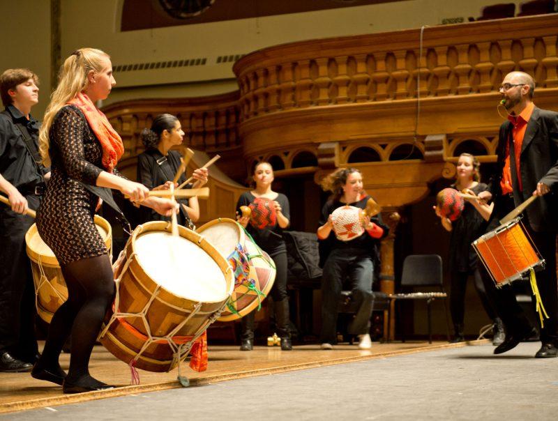 The Brazilian Ensemble performs in Setnor Auditorium.