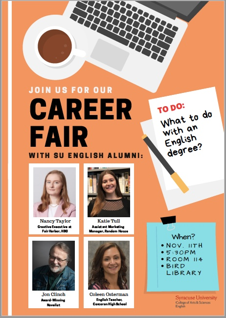 English Career Fair Poster