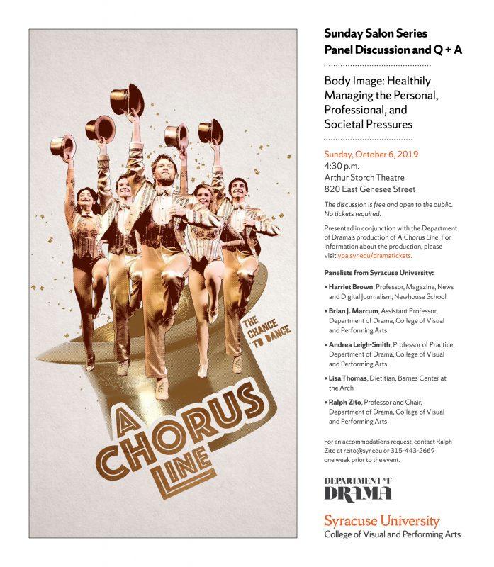 A Chorus Line panel flyer.
