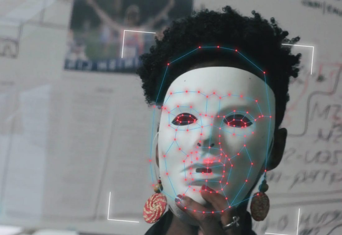 face-recognition algorithm still shot from the documentary film