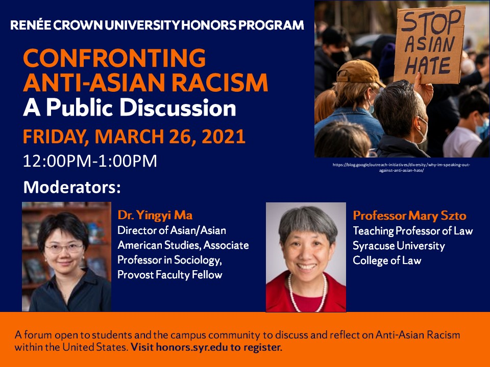 Confronting Anti-Asian Racism Flyer