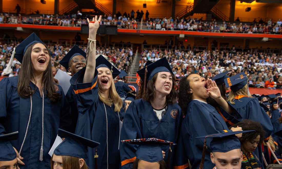 Students celebrate at convocation