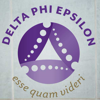 Purple Delta Phi Epsilon logo