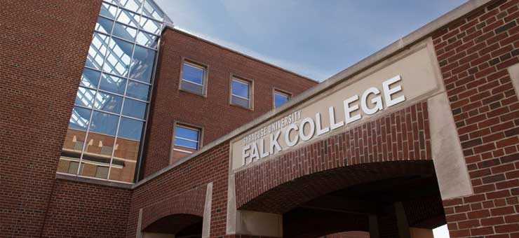Entrance to Falk College