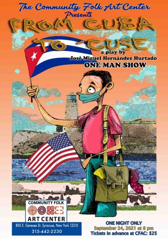 Flyer for the play - From Cuba to Cuse