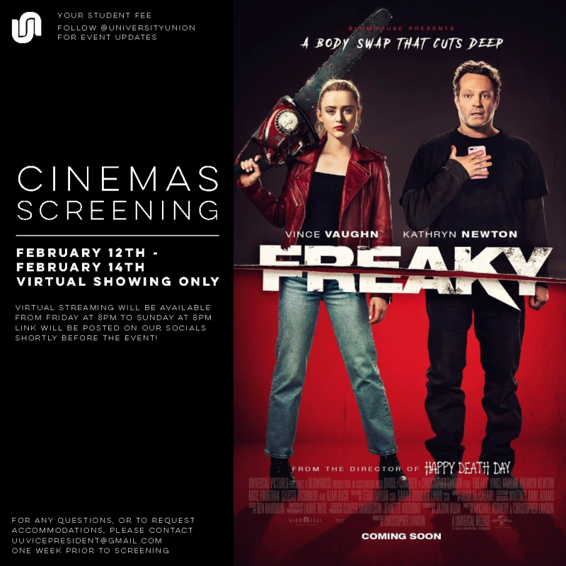 Digital movie poster for the movie Freaky.