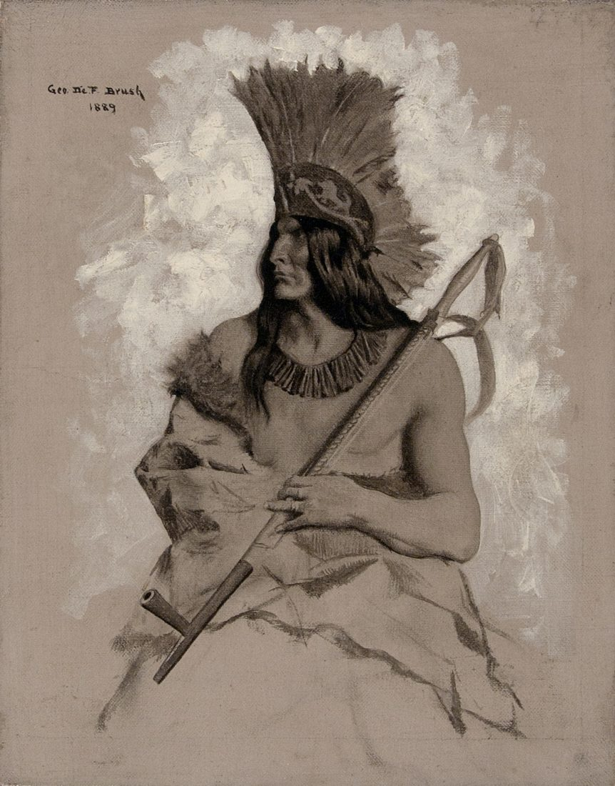 Seated Native American