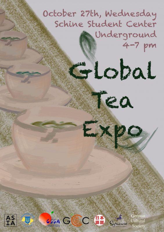 Illustration of tea cups