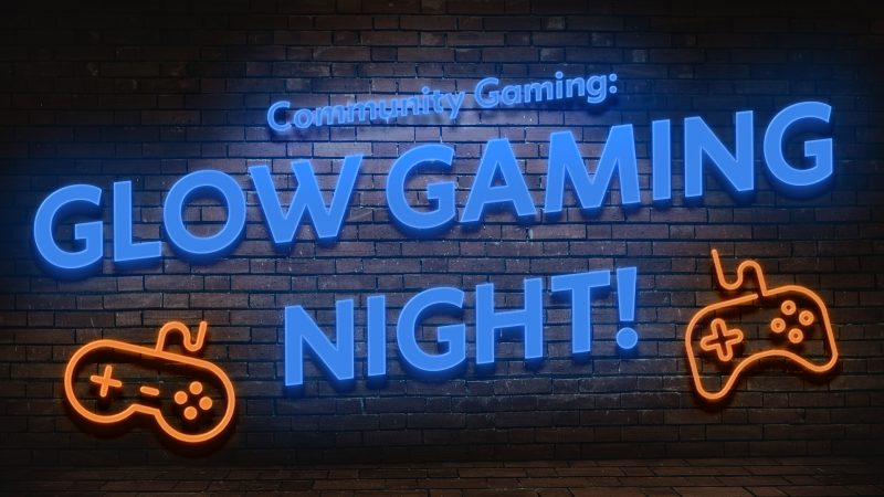 neon illustration with game controllers