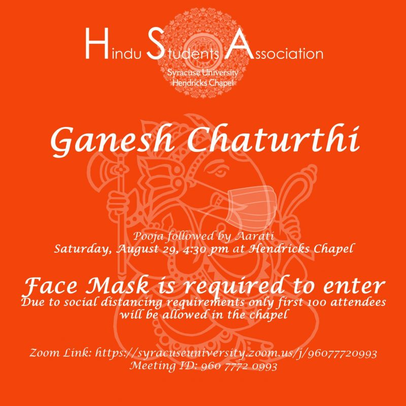 Graphic of text for Ganesh Chaturthi