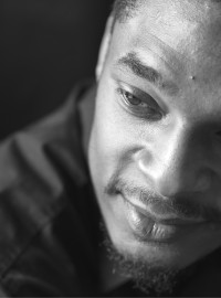 poet Terrance Hayes, close view of face