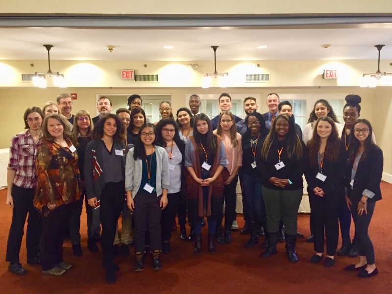Group photo of students and faculty who attended Diversifying Psychology Visit Day