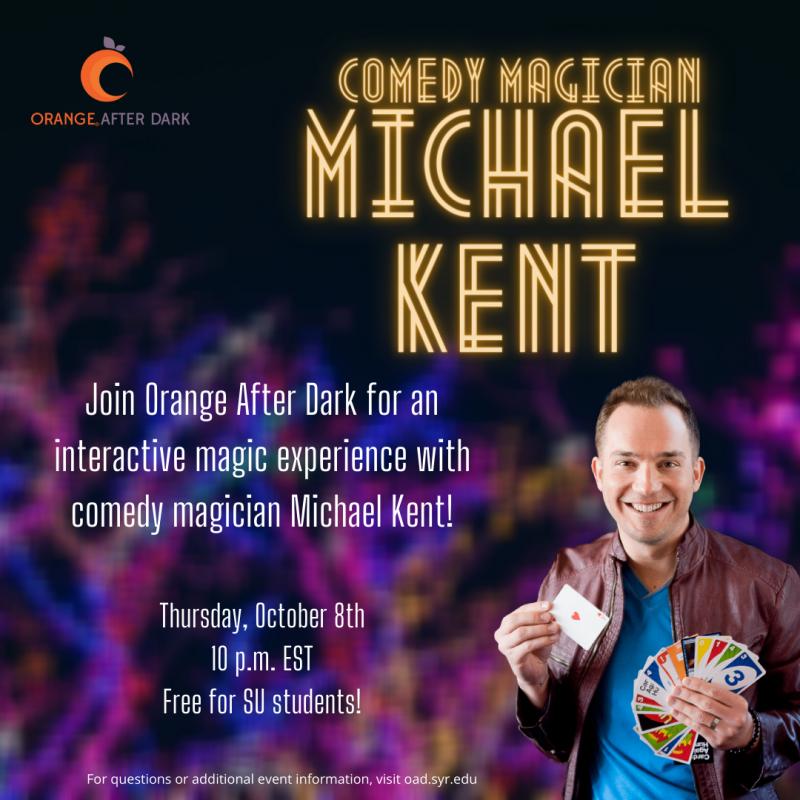 Comedy Magician Michael Kent Event Poster