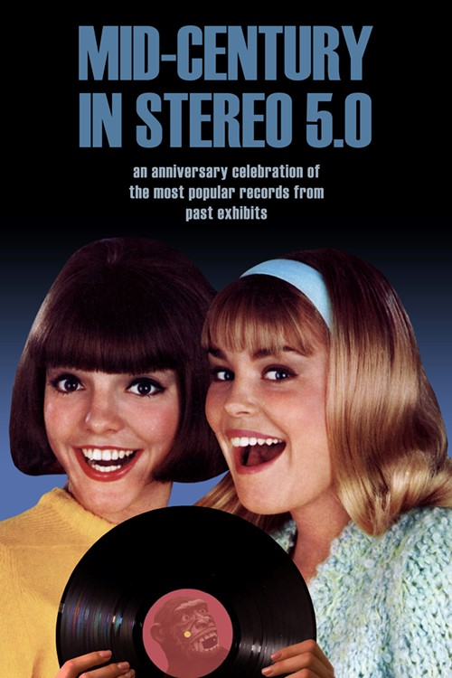 two females from 1960s holding vinyl record