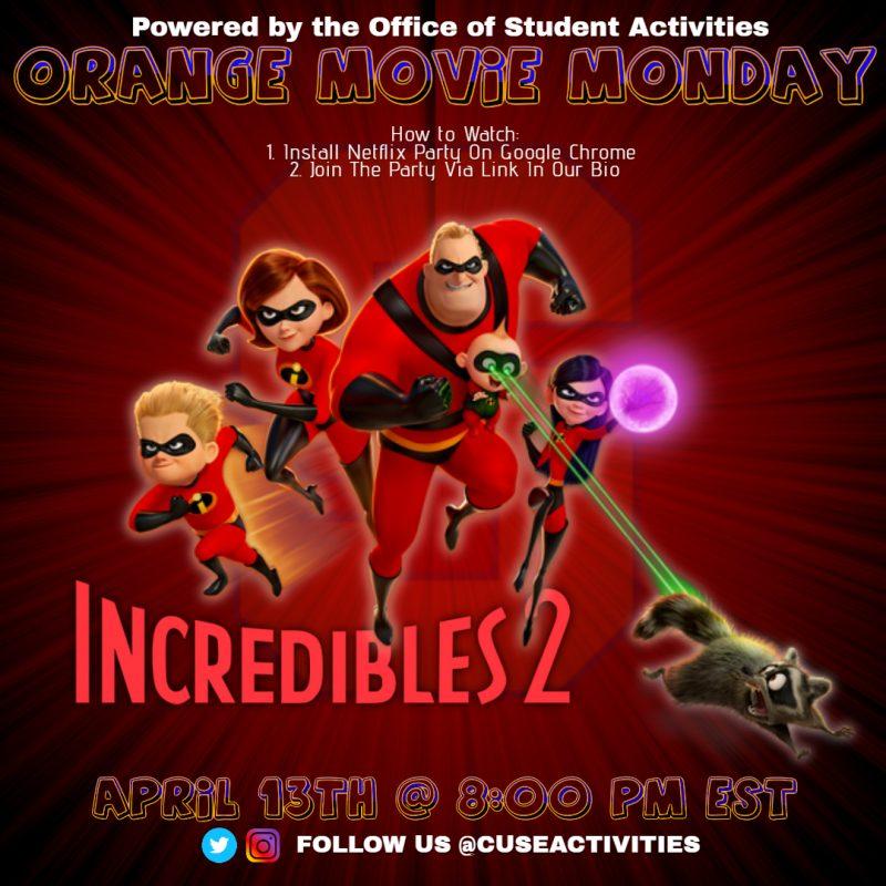 Orange Movie Madness: Incredibles 2