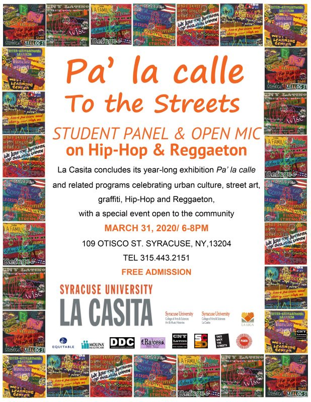 Flyer Announcing Student Panel & Open Mic