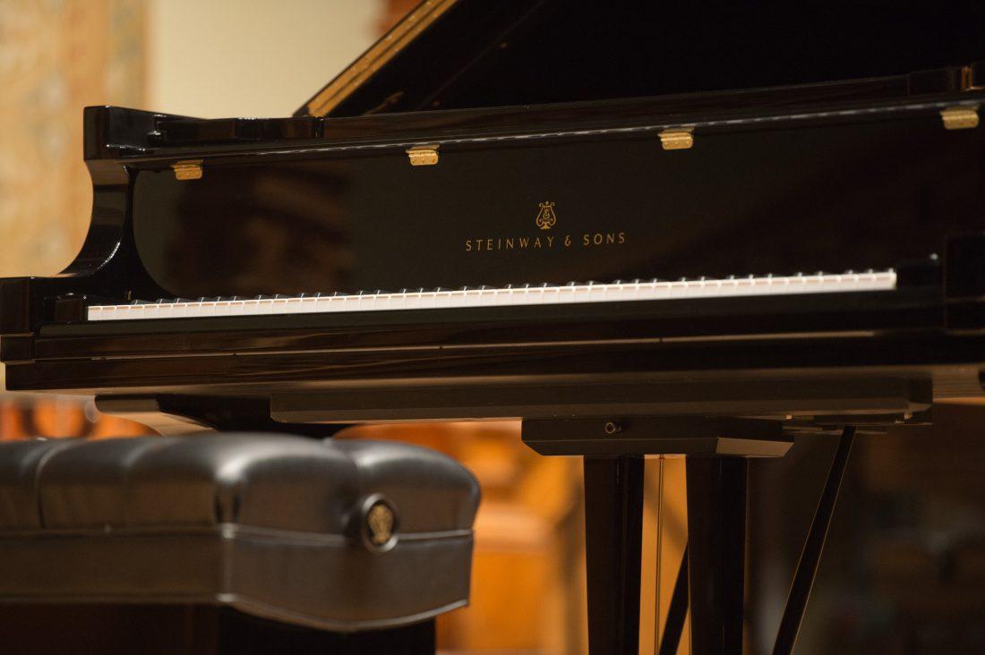 Steinway piano.