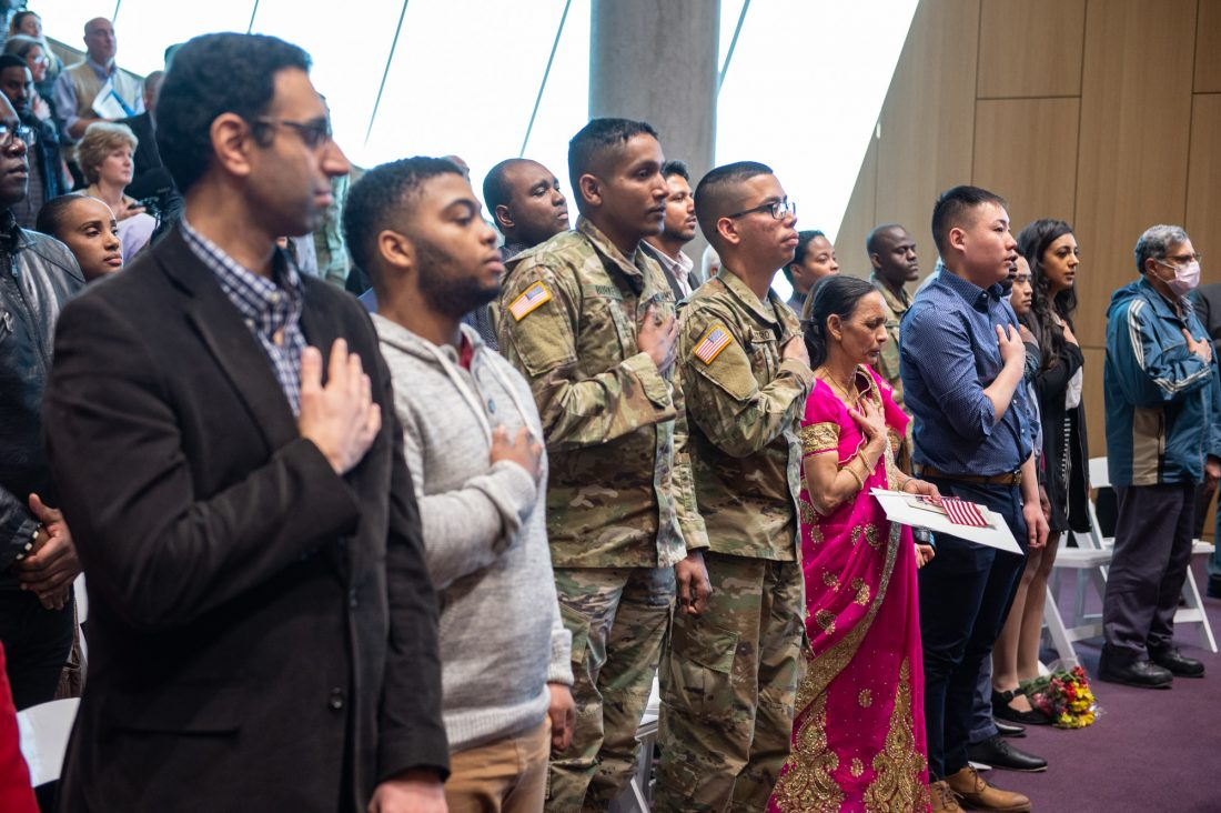 Naturalization Ceremony at the College of Law