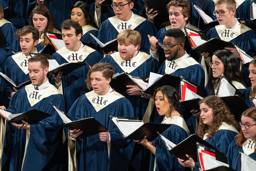 Hendricks Chapel Choir singing