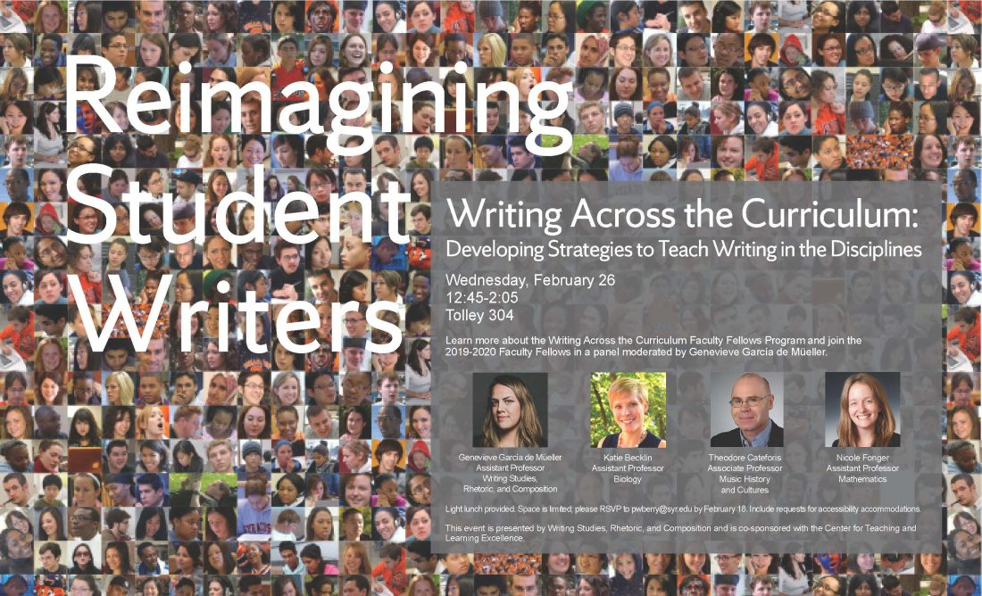 flyer for Reimagining Student Writers event