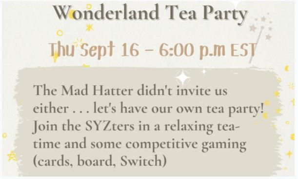 Wonderland Tea Party invitation