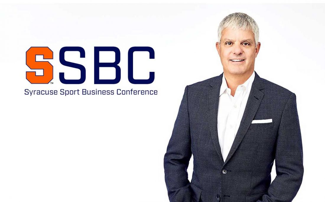 A portrait of David Levey with SSBC logo