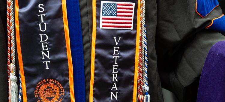 Student Veteran Commencement Regalia