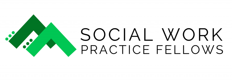 Social Work Practice Fellows Logo in dark and light green