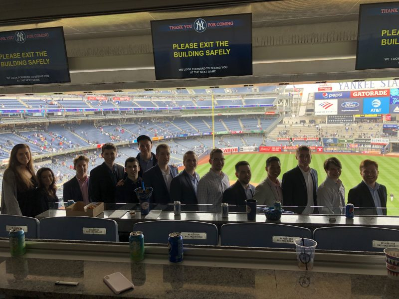 SPM Students at Yankee Stadium in 2019