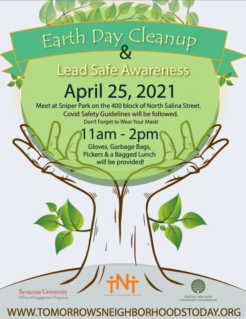 Earth Day Cleanup title and logo