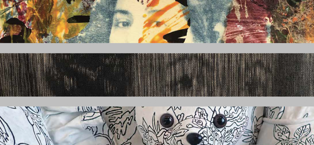 Collage of student artwork.