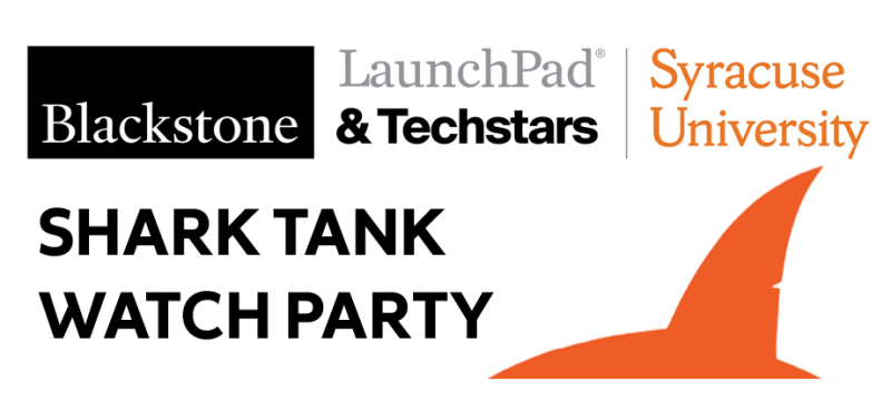 orange shark fin and LaunchPad logo