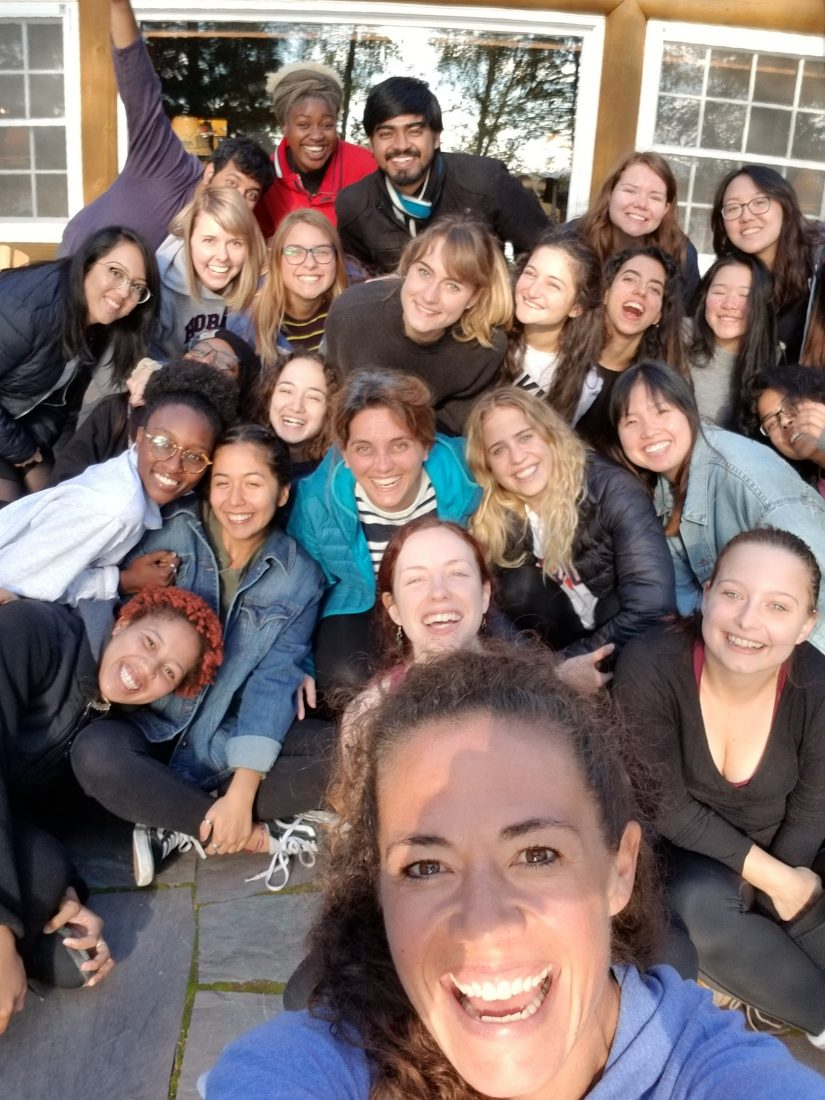 SoulScape participants pose together for a selfie with big smiles